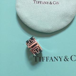 ティファニー(Tiffany & Co.)の新品☆ティファニーTカットアウトブラックセラミックシルバーリングUS5サイズ(リング(指輪))