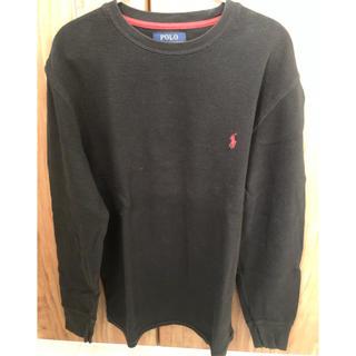 ポロラルフローレン  ロンT ブラック S(Tシャツ/カットソー(七分/長袖))