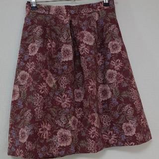 クチュールブローチ(Couture Brooch)の花柄スカート (ひざ丈スカート)