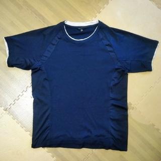 ユニクロ(UNIQLO)のTシャツ ネイビー Mサイズ メンズ 古着(Tシャツ/カットソー(半袖/袖なし))
