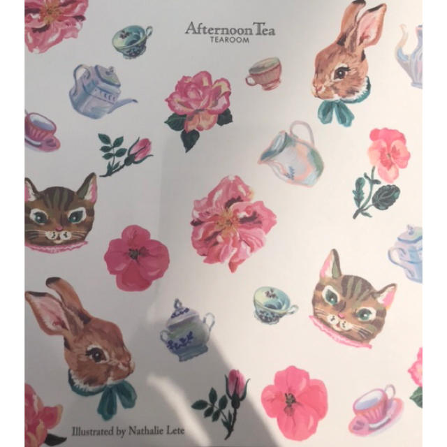 AfternoonTea(アフタヌーンティー)の専用 非売品 限定 ナタリーレテ×Afternoon Tea/ショッパー レディースのバッグ(ショップ袋)の商品写真