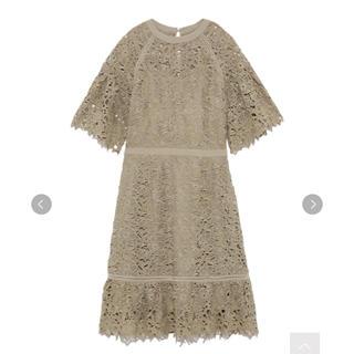 リリーブラウン(Lily Brown)のリリーブラウン 異素材切替ワンピース レース ドレス(ミディアムドレス)