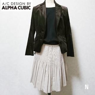 アルファキュービック(ALPHA CUBIC)の【新品】A/C DESIGN BY ALPHA CUBIC ベロアジャケット(テーラードジャケット)
