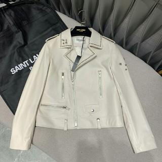 サンローラン(Saint Laurent)のサンローラン SAINT LAURENT レザージャケット  (ノーカラージャケット)