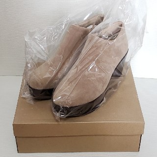 本日タイムセール‼【新品】 ショートブーツ ベージュ 24.5cm(ブーツ)