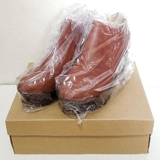 本日タイムセール‼【新品】 ショートブーツ ブラウン 24.5cm(ブーツ)