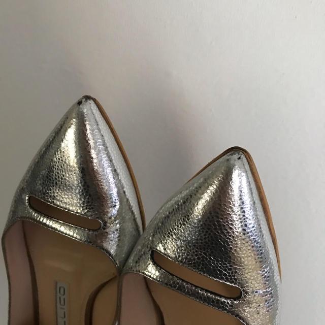 PELLICO(ペリーコ)のペリーコ シルバー フラットシューズ  34 レディースの靴/シューズ(ハイヒール/パンプス)の商品写真