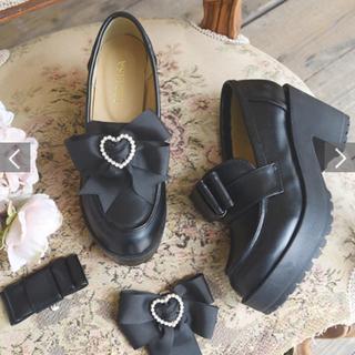 リズリサ(LIZ LISA)の厚底リボンローファー(ローファー/革靴)