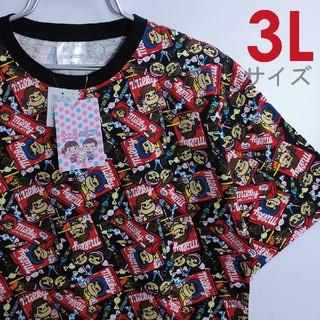 サンリオ(サンリオ)の新品 3L XXL Tシャツ ペコちゃん 不二家 サンリオ 総柄 5359(Tシャツ/カットソー(半袖/袖なし))