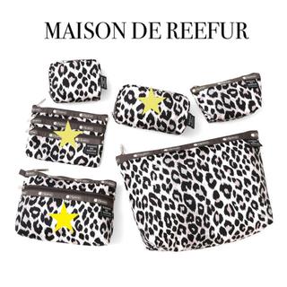 メゾンドリーファー(Maison de Reefur)のメゾンドリーファー レスポートサック ポーチ レオパード クラッチバッグ(ポーチ)