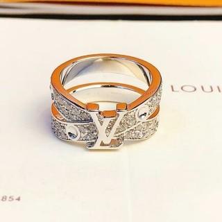 ルイヴィトン(LOUIS VUITTON)のルイヴィトン リング 刻印 ダイヤモンド飾り 正規品 (リング(指輪))