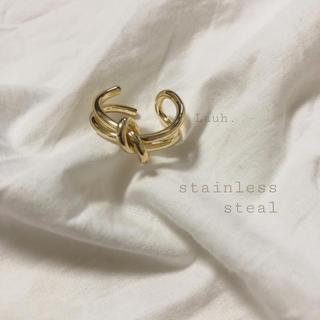 エストネーション(ESTNATION)のj160.stainless knot ring(リング(指輪))