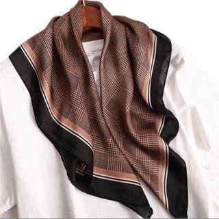 トゥデイフル(TODAYFUL)のsale 新品 新作 千鳥格子 スカーフ 韓国 インポート ブラウン ストール(バンダナ/スカーフ)