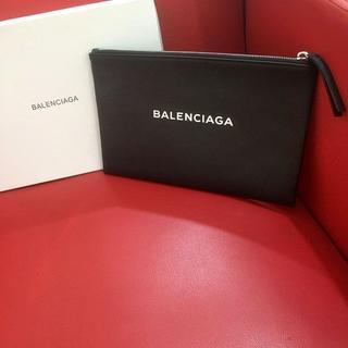 バレンシアガ(Balenciaga)のバレンシアガ レザー クラッチバッグ セカンドバッグ ブラック(セカンドバッグ/クラッチバッグ)