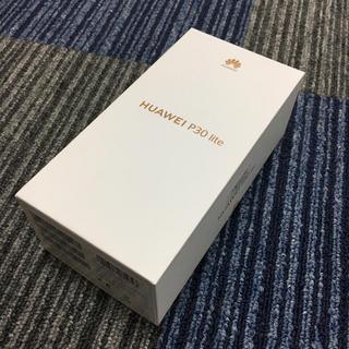 未開封 p30 lite simフリー 新品 ホワイト(スマートフォン本体)