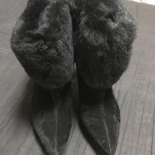 エミリアウィズ(EmiriaWiz)のEmiriaWiz リアル ラビット ファー ショート ブーツ ふわふわ(ブーツ)