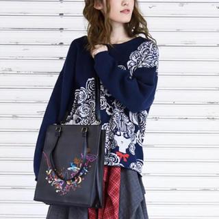 スカラー(ScoLar)のscolar 新品タグ付 メルヘン合皮刺繍2WAYトートバッグ(ショルダーバッグ)