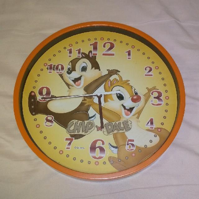 チップ&デール(チップアンドデール)のディズニー チップとデール 壁掛け時計 エンタメ/ホビーのおもちゃ/ぬいぐるみ(キャラクターグッズ)の商品写真
