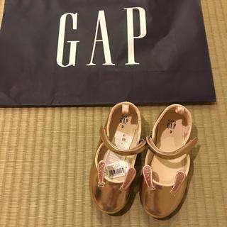 ベビーギャップ(babyGAP)の新品★ 16cm gap バレエシューズ うさぎ メタリック(その他)