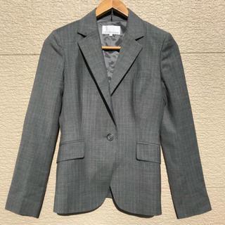 エムプルミエ(M-premier)の美品 M-PREMIER エムプルミエ ジャケット グレー 36(テーラードジャケット)
