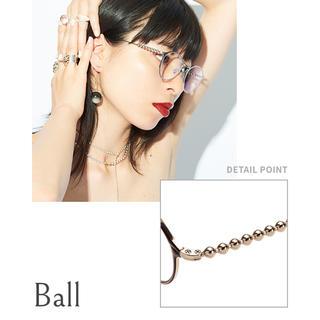 ゾフ(Zoff)の値下げ  love by e.m. zoff ball ゴールド(サングラス/メガネ)