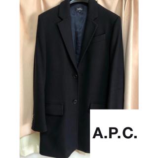 アーペーセー(A.P.C)の【A.P.C.】チェスターコート ネイビー(チェスターコート)