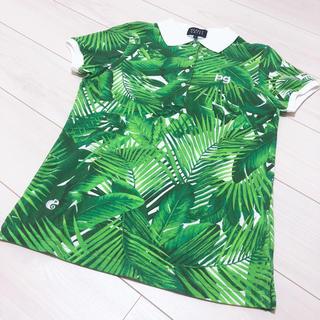 パーリーゲイツ(PEARLY GATES)の新品 パーリーゲイツ リーフ柄ポロシャツ(ポロシャツ)