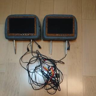 TFT LCD 10.1ヘッドレストモニター  グレー モケット 木目調(カーナビ/カーテレビ)
