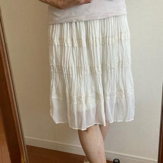 ストラ(Stola.)のstola. 白レーススカート (ひざ丈スカート)