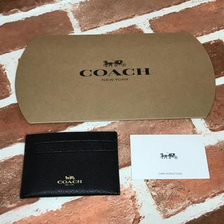 コーチ(COACH)のcoach コーチ 名刺入れ カードケース 新品未使用(名刺入れ/定期入れ)