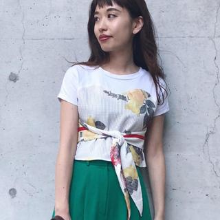 アメリヴィンテージ(Ameri VINTAGE)のアメリ MEDI MESH PRINT TEE(Tシャツ(半袖/袖なし))