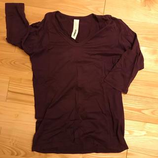アタッチメント(ATTACHIMENT)のアタッチメント ATTACHMENT カットソー 5分袖 紫 サイズ3(Tシャツ/カットソー(半袖/袖なし))