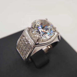 【5カラット 】輝くモアサナイト ダイヤモンド リング(リング(指輪))