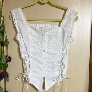 ロキエ(Lochie)の𓂃𓍯 vintage ブラウスキャミ .(シャツ/ブラウス(半袖/袖なし))