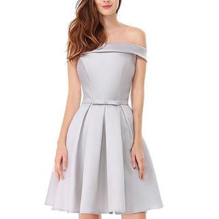 新品、未使用【everpretty】ドレス キャバドレス  シルバー(ナイトドレス)