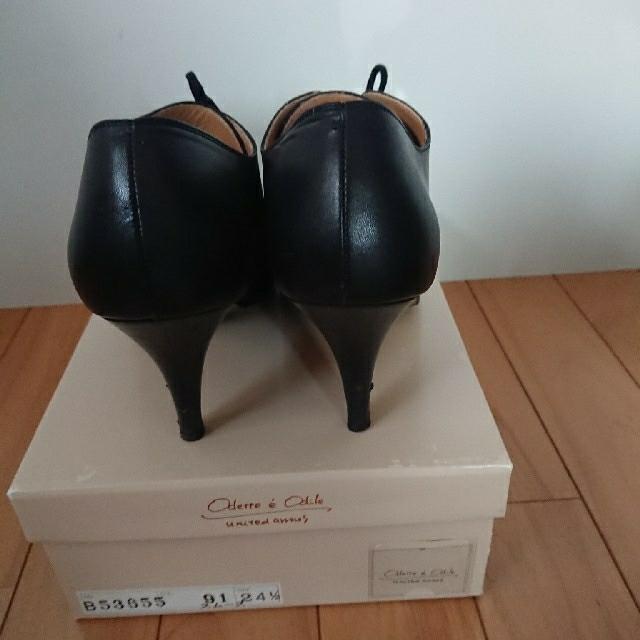 Odette e Odile(オデットエオディール)のオデットエオディール ブーティ ブラック 24.5㎝ ヒール8㎝ レディースの靴/シューズ(ブーティ)の商品写真