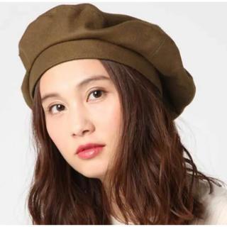 マウジー(moussy)のMOUSSY マウジー ベレー帽 ブラウン 茶色(ハンチング/ベレー帽)