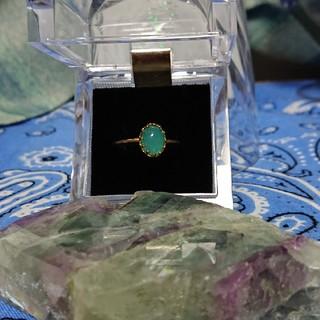 アネモネ(Ane Mone)のエメラルドグリーンゴールド(リング(指輪))