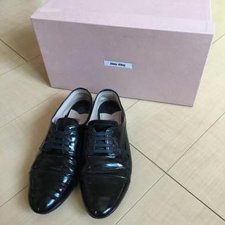ミュウミュウ(miumiu)のミュウミュウ レースアップシューズ 靴(ローファー/革靴)