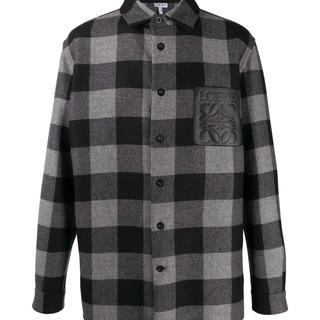 ロエベ(LOEWE)のLOEWE Check Overshirt グレー/ブラック(シャツ)