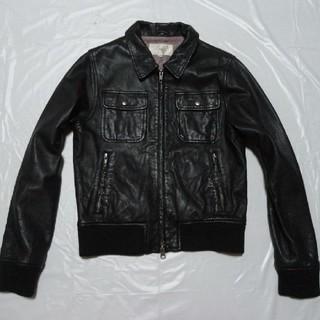 シップス(SHIPS)の美品◆シップス 女性レディース 羊革レザージャケット黒S◆ライダース革ブルゾン(ライダースジャケット)