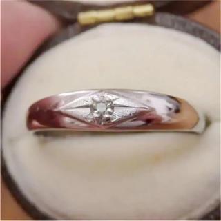 即購入OK♡V055昭和レトロシルバーカラーリングヴィンテージ指輪(リング(指輪))