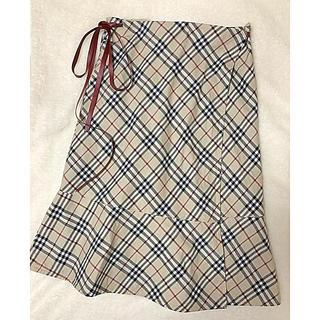 バーバリーブルーレーベル(BURBERRY BLUE LABEL)のBURBERRY BLUE LABEL ノバチェック 巻きスカート(ロングスカート)