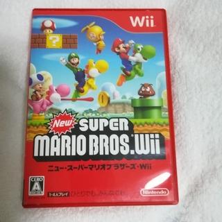 ウィー(Wii)の【即購入OK(^-^)】New スーパーマリオブラザーズ Wii(家庭用ゲームソフト)
