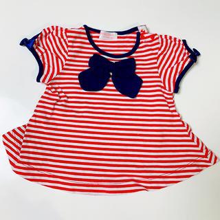 シャーリーテンプル(Shirley Temple)のシャーリーテンプル Tシャツ ボーダー 80サイズ(シャツ/カットソー)