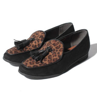 アーバンリサーチ(URBAN RESEARCH)の新品♡アーバンリサーチ シューズ BLACK36、レオパード柄36、シルバー(ローファー/革靴)