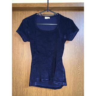 イエナ(IENA)のイエナ  未使用  美品  未使用 秋 ネイビー 小さめサイズ XS  S(Tシャツ(半袖/袖なし))