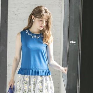 トッコ(tocco)の裾レーストップス(カットソー(半袖/袖なし))