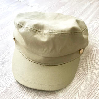 シマムラ(しまむら)のマリンキャップ ベージュ キャップ 帽子 キャスケット(キャスケット)