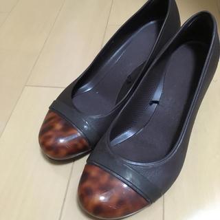 クロックス(crocs)のクロックス crocs 厚底ヒール w7 23センチぐらい 茶色(ハイヒール/パンプス)